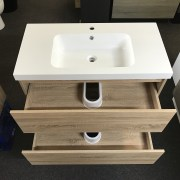 BOGETTA 900mm White Oak | Vanity with Polymarble Top