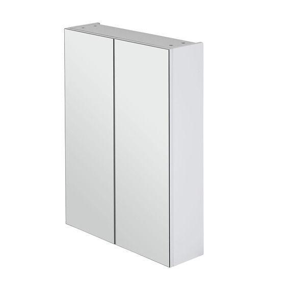 600mm-White-Polyurethane-Pencil-Edge-Mirror-Shaving-Medicine-Cabinet-Glass-Shelf-253100180810
