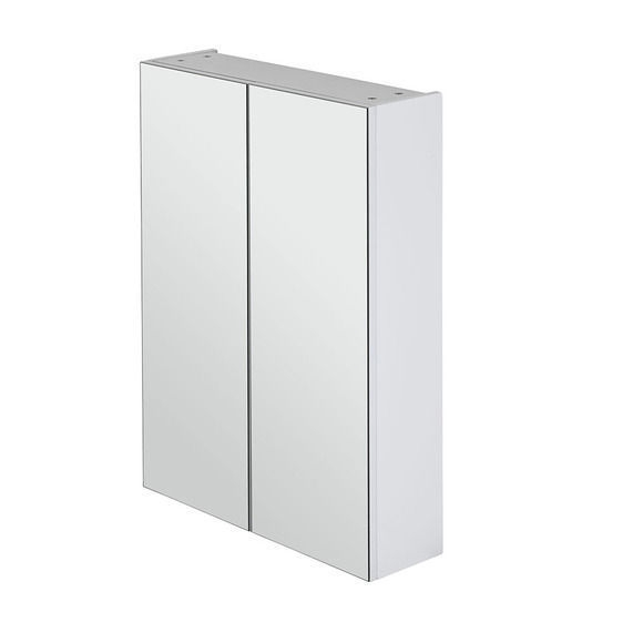 600mm-White-Polyurethane-Pencil-Edge-Mirror-Shaving-Medicine-Cabinet-Glass-Shelf-253100180810
