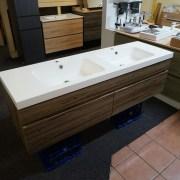ASTI-1500mm-Walnut-Oak-Timber-Wood-Grain-PVC-THERMOFOIL-Wall-Hung-Double-Vanity-252931965290-3