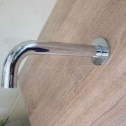 FOSCA-Round-CHROME-Designer-Gooseneck-Curved-Wall-Mounted-Spout-Water-Outlet-253297214640-5