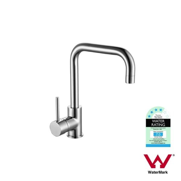 FOSCA-Round-Squareneck-Chrome-High-Rise-Swivel-Vessel-Laundry-Kitchen-Sink-Mixer-252978263460