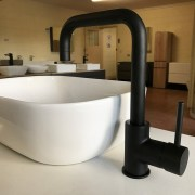 FOSCA-Round-Squareneck-Matte-Black-High-Swivel-Vessel-Laundry-Kitchen-Sink-Mixer-252978353880-2