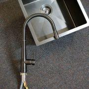Premium-Gun-Metal-Grey-Round-Cone-Gooseneck-Shape-Pin-Lever-Pull-Out-Sink-Mixer-253479962120-3