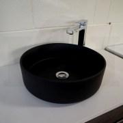 Round-MATTE-BLACK-Thin-Edge-Vessel-Counter-Top-Bench-Mount-Art-Basin-Bowl-Sink-253200487310-7