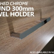 NEW-Round-CHROME-300mm-Small-Hand-Towel-Holder-Rail-Bar-304-Stainless-Steel-252960294681