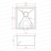 450mm-Square-Handmade-304-Grade-Stainless-Steel-Single-Bowl-LaundryKitchen-Sink-253206094302-2