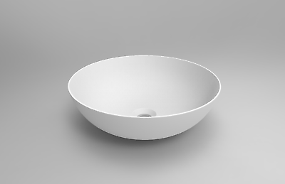 Round-Matte-White-Solid-Surface-Stone-Thin-Edge-Above-Counter-Art-Basin-254130879852