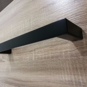 Small-330mm-MATTE-BLACK-Square-Single-Towel-Bar-Rail-Holder-Bathroom-Accessories-252663703042-4