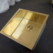 450mm-Square-LIGHT-GOLD-304-Stainless-Steel-LaundryKitchen-Sink-Premium-PVD-253206077023-7