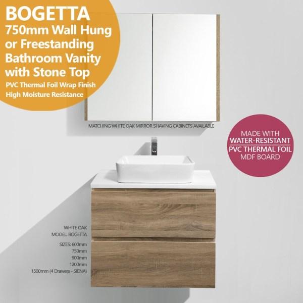BOGETTA-750mm-White-Oak-PVC-THERMAL-FOIL-Timber-Wood-Grain-Vanity-w-Stone-Top-252862016533