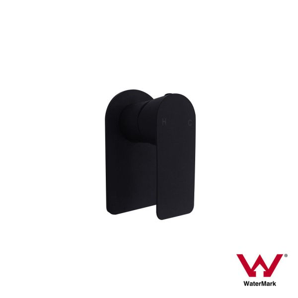 PLUSH-Matte-Black-Square-Round-Bathroom-Wall-Mounted-Sink-Shower-Bath-Mixer-253403524433