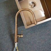 Premium-Rose-Gold-Black-Round-Gooseneck-Swivel-Pin-Lever-Pull-Out-Sink-Mixer-253479981813-3