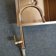 Premium-Rose-Gold-Black-Round-Gooseneck-Swivel-Pin-Lever-Pull-Out-Sink-Mixer-253479981813-4