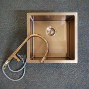 Premium-Rose-Gold-Black-Round-Gooseneck-Swivel-Pin-Lever-Pull-Out-Sink-Mixer-253479981813-7