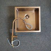 Premium-Rose-Gold-Black-Round-Gooseneck-Swivel-Pin-Lever-Pull-Out-Sink-Mixer-253479981813-8