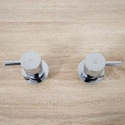 Round-Chrome-Pin-Lever-14-Quarter-Turn-Hot-Cold-Twin-Tap-Set-Wall-Top-Assembly-252842144303-3
