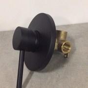 FOSCA-Round-MATTE-BLACK-Lollipop-Pin-Lever-Wall-Mount-ShowerBath-Mixer-252846607554-6