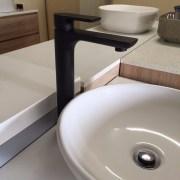 PLUSH-MATTE-BLACK-Tall-High-Rise-Bathroom-Basin-Flick-Mixer-Solid-BrassCeramic-252535978934-9