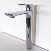 Polished-Chrome-Tall-High-Rise-Bathroom-Basin-Sink-Mixer-TapSolid-BrassCeramic-252537167434-4
