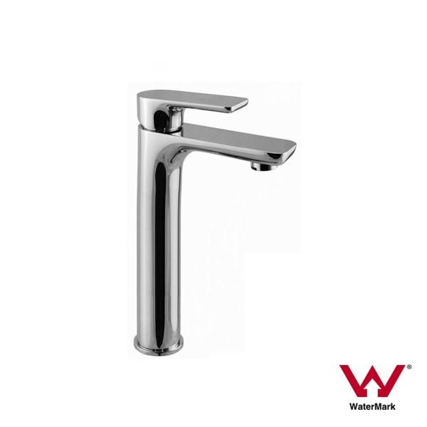 Polished-Chrome-Tall-High-Rise-Bathroom-Basin-Sink-Mixer-TapSolid-BrassCeramic-252537167434