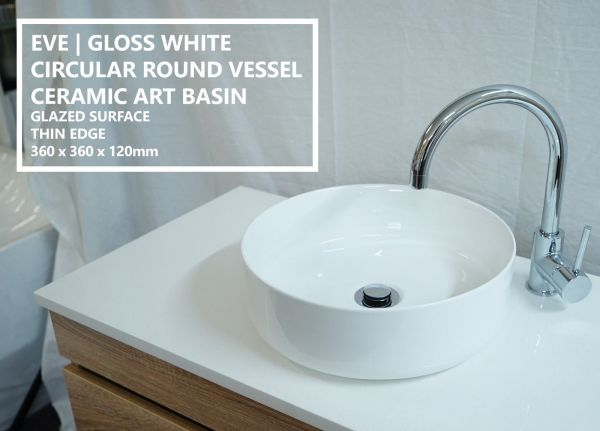 EVE-Round-Circular-Gloss-White-Ceramic-Above-Counter-Bowl-Basin-Sink-Thin-Edge-253951967456