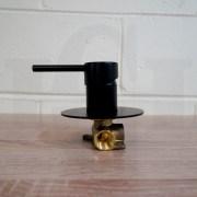FOSCA-Premium-Grade-Round-Lollipop-Matte-Black-Ultra-Slim-Wall-Shower-Bath-Mixer-253198834546-6