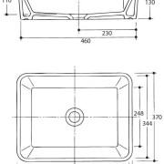 Rectangle-ART-BASIN-Above-Counter-BATHROOM-VANITY-SQUARE-Bowl-Ceramic-Porcelain-252330666686-5