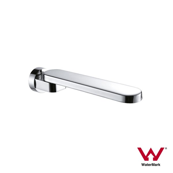 FLAT-ROUND-180-Swivel-Polished-Chrome-Wall-Mount-Spout-for-Bath-Basin-Sink-252618257827