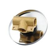 FOSCA-Round-Polished-Chrome-Lollipop-Pin-Lever-Wall-Mount-ShowerBath-Mixer-252846626717-7