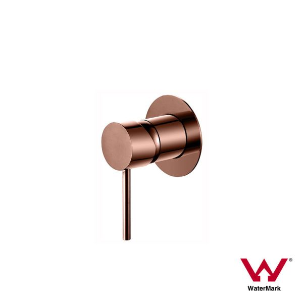 FOSCA-Round-Rose-Gold-Lollipop-Pin-Lever-Wall-Mixer-for-Shower-Bath-Sink-PVD-253417744467
