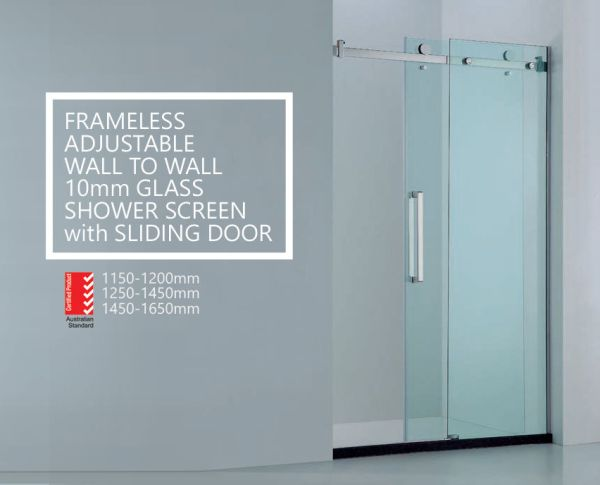 Premium-Adjustable-Wall-to-Wall-Frameless-10mm-Sliding-Glass-Panel-Shower-Screen-252601756627