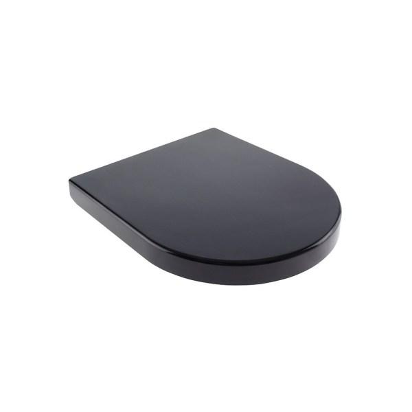 Black-Round-D-Shape-Duraplast-Heavy-Duty-Soft-Close-Quick-Release-Toilet-Seat-252979973208