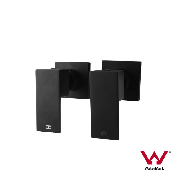 Square-Matte-Black-14-Quarter-Turn-Hot-Cold-Wall-Top-Assemblies-Twin-Tap-Set-252843772388