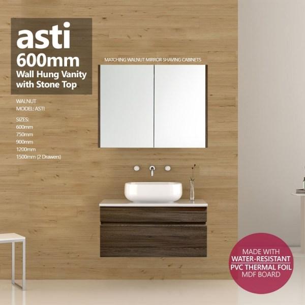 ASTI-600mm-Walnut-Oak-PVC-THERMAL-FOIL-Wood-Grain-Wall-Hung-Vanity-w-Stone-Top-252920585959
