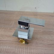ETTORE-Small-Square-Chrome-Wall-Shower-Bath-Mixer-80mm-Ultra-Slim-Back-Plate-253336475709-9