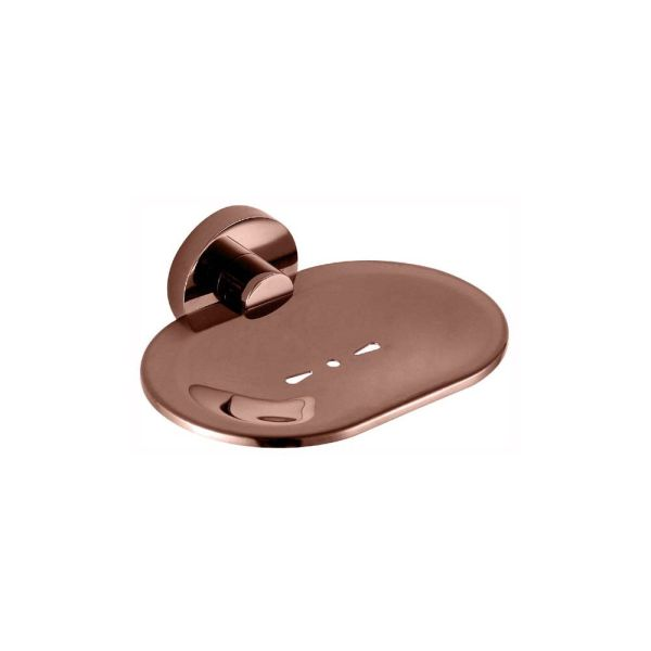 FOSCA-Round-Rose-Gold-Wall-Mount-Soap-HolderDishTray-PVD-Electroplated-253426089209