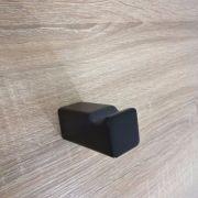 Modern-Square-MATTE-BLACK-Wall-Mount-RobeTowel-Hanger-Hook-Bathroom-Accessories-252660907249-3