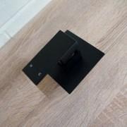 Premium-Electroplated-Square-Matte-Black-Ultra-Slim-Wall-Shower-Bath-Mixer-253200363179-6