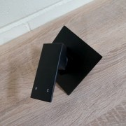 Premium-Electroplated-Square-Matte-Black-Ultra-Slim-Wall-Shower-Bath-Mixer-253200363179-9