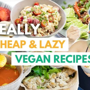 """5 REALLY LAZY Vegan """"Recipes"""" For ONE! High Protein & Cheap, too~"""