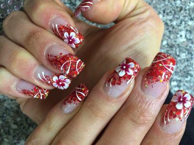 Top 20 Bridal Nail Art Designs 1