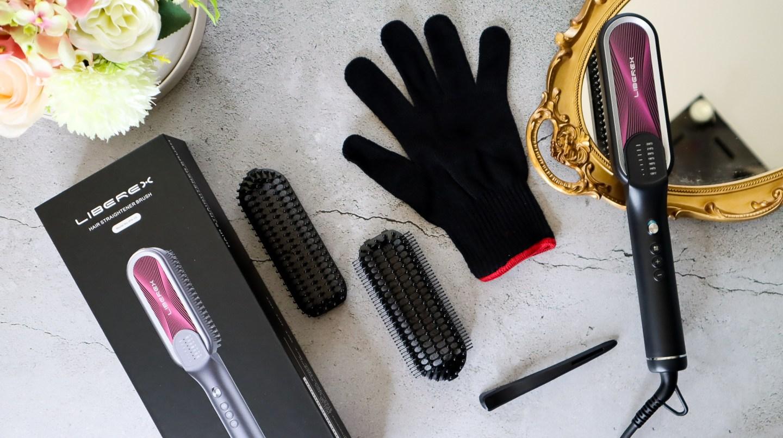 Liberex Hair Straightening Brush salon worthy hair at home