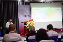 "Prof. Mai Trong Nhuan from Vietnam National University, delivering a plenary talk entitled ""Synergy of environment protection, climate change response and sustainable development: Lessons from Vietnam"" (Photo: Tran Huynh Ngoc)"
