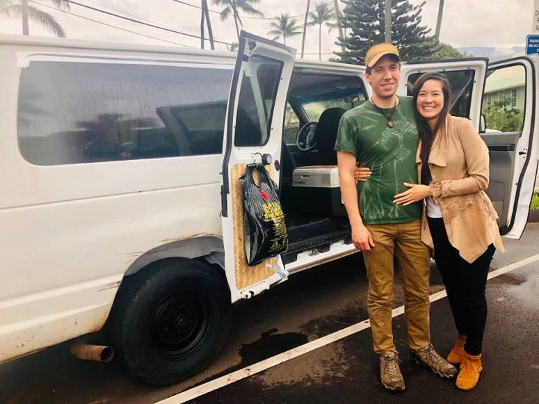 whitey ford maui campervan rental guests from california vanlife maui