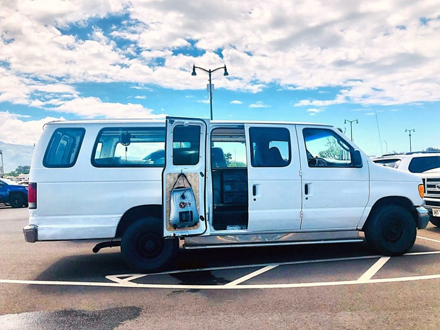 vanlife maui cloud 9 campervan new addition fully equipped off grid living with solar panel refrigerator camping gear snorkeling gear airport drop off pick up available delivery ogg kahului