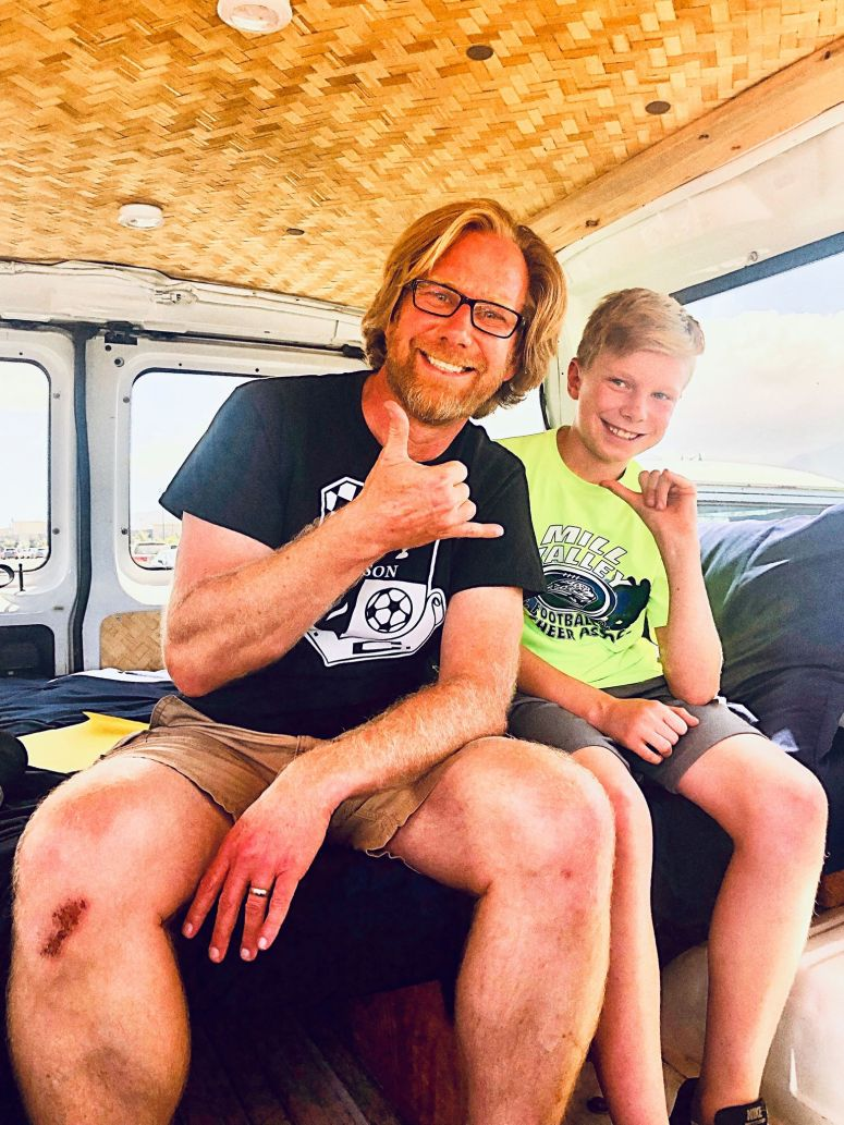 vanlife maui van life maui camper van campervan rental fully equipped cloud 9 haleakala volcano road to hana off grid solar panel refrigerator romantic getaway father and son holidays snorkeling gear free