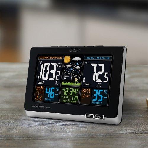 La Crosse Technology 308-1414W Wireless Atomic Digital Color Forecast Station with Alert