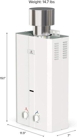 Eccotemp L10 Portable Tankless Water Heater w/EccoFlo Pump van shower rv shower van shower conversion van shower van conversion shower