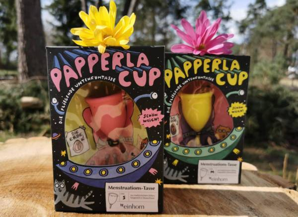 1 Girl 2 Cups Menstruationstassen-Einhorn